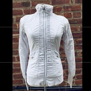 LULULEMON  Zipper Jacket White Athletic Sz 4